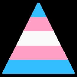 Triángulo transexual franja plana