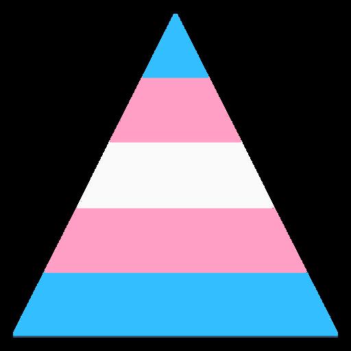 Triángulo transexual franja plana Transparent PNG
