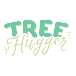 Tree hugger branch pattern badge sticker