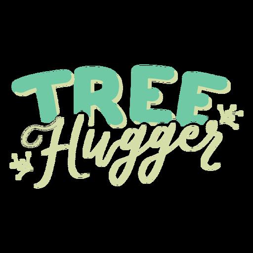 Tree hugger branch pattern badge sticker Transparent PNG