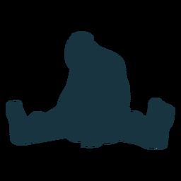 Riesiges sitzendes Fußschattenbild des Trolls