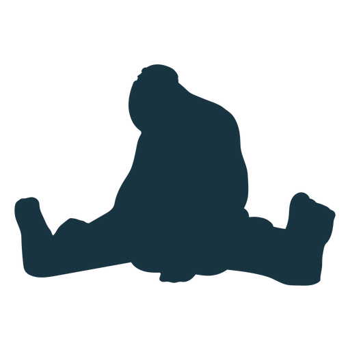 Troll giant sitting foot silhouette