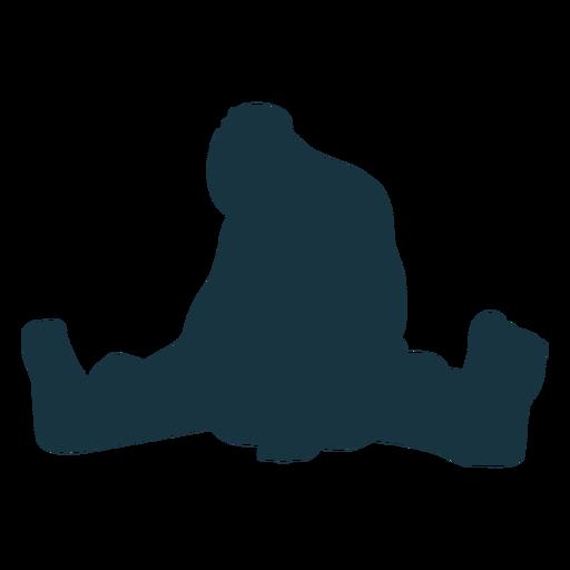 Troll gigante sentado silueta silueta Transparent PNG