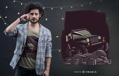 Design de camiseta para o dia dos pais Jeep