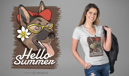 Summer dog t-shirt design