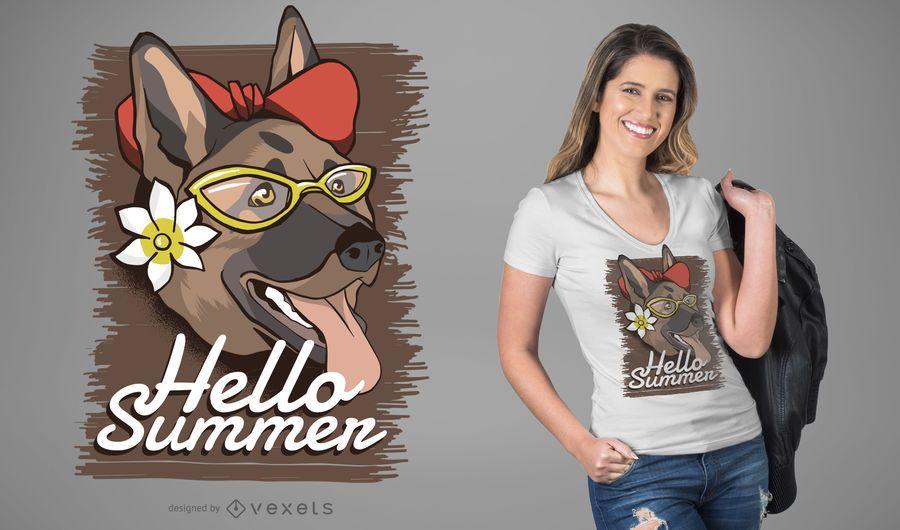 Sommer Hund T-Shirt Design