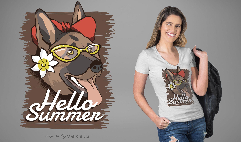 Summer dog t-shirt design