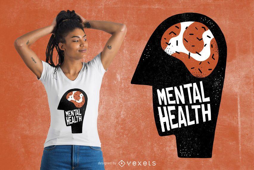 Projeto do t-shirt da saúde mental