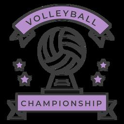 Estrela de bola de campeonato de voleibol colorido adesivo de crachá