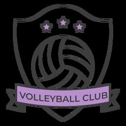 Etiqueta engomada coloreada estrella de la bola del club del voleibol