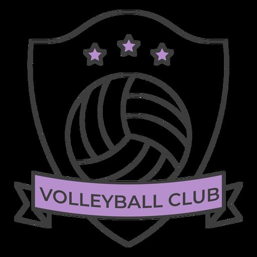 Etiqueta colorida do emblema da estrela da bola do clube do voleibol Transparent PNG