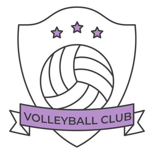 Volleyball club ball star colored badge sticker Transparent PNG