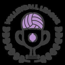 Voleibol ligue bola copo ramo colorido distintivo adesivo
