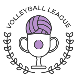 Volleyball ligue ball cup branch colored badge sticker