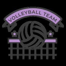 Volleyball team ball net star colored badge sticker