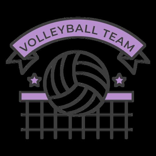 Etiqueta engomada coloreada de la estrella de la red de la bola del equipo de voleibol