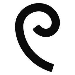W curl tendril silhouette