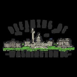 Autocolante de skyline de Washington