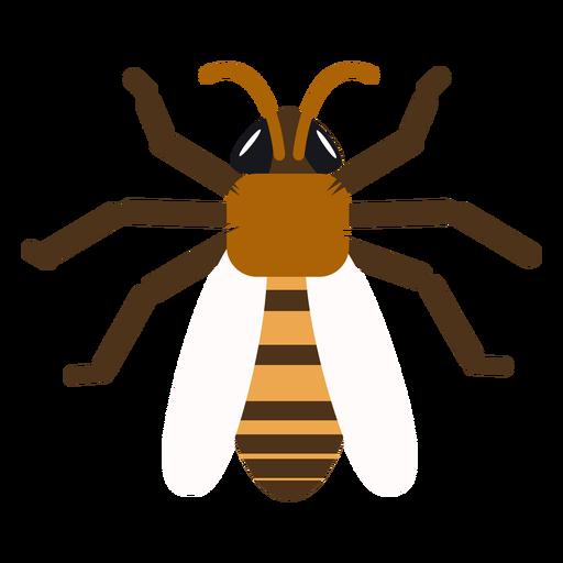 Asa de abelha de vespa tarja arredondada plana Transparent PNG