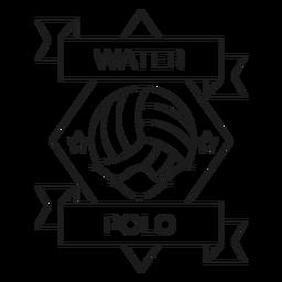 Linha do crachá da onda da estrela da bola do polo aquático