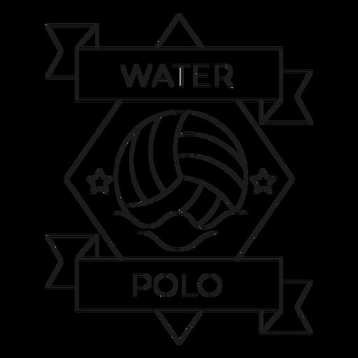 Linha do crachá da onda da estrela da bola do polo aquático Transparent PNG
