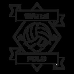 Traçado de distintivo de onda estrela de pólo aquático
