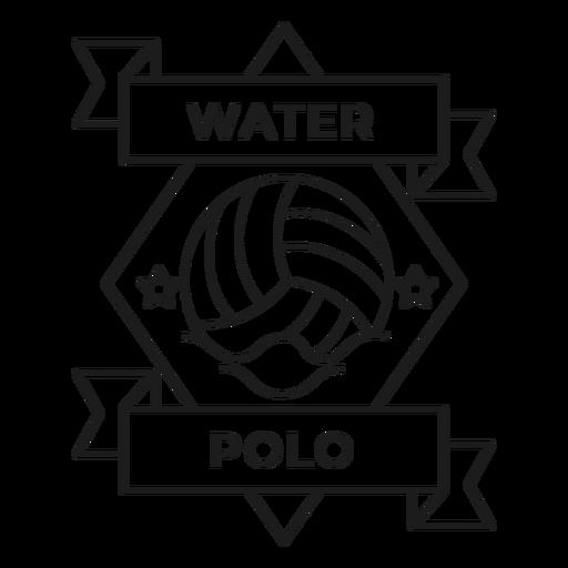 Traçado de distintivo de onda estrela de pólo aquático Transparent PNG