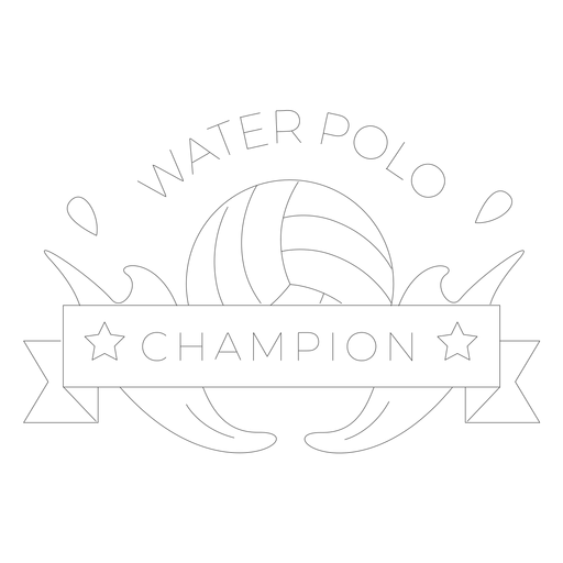 Water polo ball water badge line