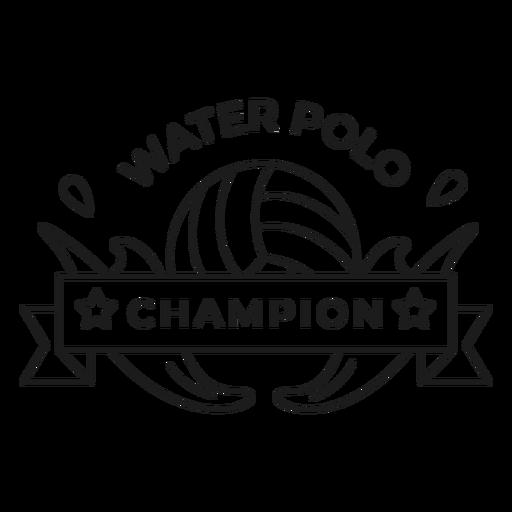Campeón de waterpolo bola caída insignia insignia Transparent PNG