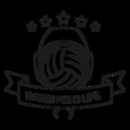 Linha do crachá da estrela da bola da vida do polo aquático do polo aquático