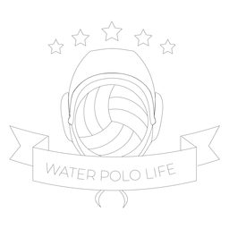 Water polo water polo life ball star badge line