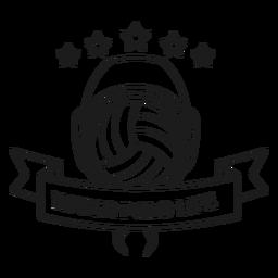 Water polo water polo vida bola estrella insignia trazo