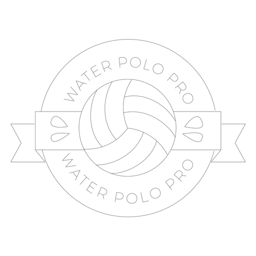 Water polo water polo pro ball drop badge line