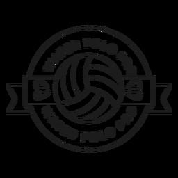 Water polo water polo pro ball drop badge stroke