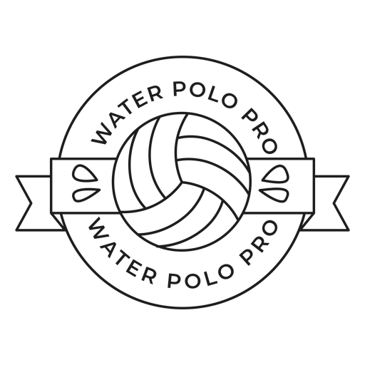 Water polo water polo pro ball drop badge stroke Transparent PNG