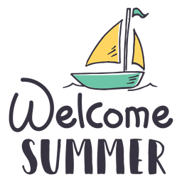 Welcome summer sail badge sticker