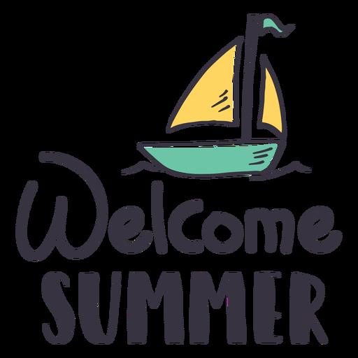Autocolante de boas-vindas de vela de verão Transparent PNG