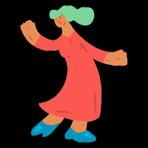 Woman dancing dress shoe heel flat Transparent PNG