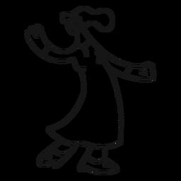 Mulher, dançar, vestido, sapato, calcanhar, apoplexia