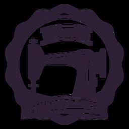 Etiqueta engomada de la insignia de la aguja de la máquina de coser hecha a mano del taller