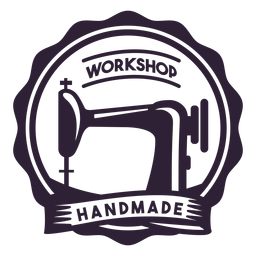 Werkstatt handgemachte Nähmaschinennadel Abzeichen Aufkleber