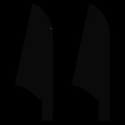 Y cane leaf detailed silhouette