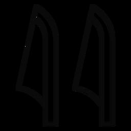 Y cane leaf stroke