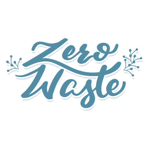 Etiqueta engomada de la insignia de rama cero residuos