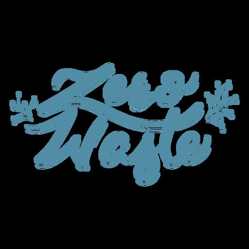 Zero waste branch badge sticker Transparent PNG
