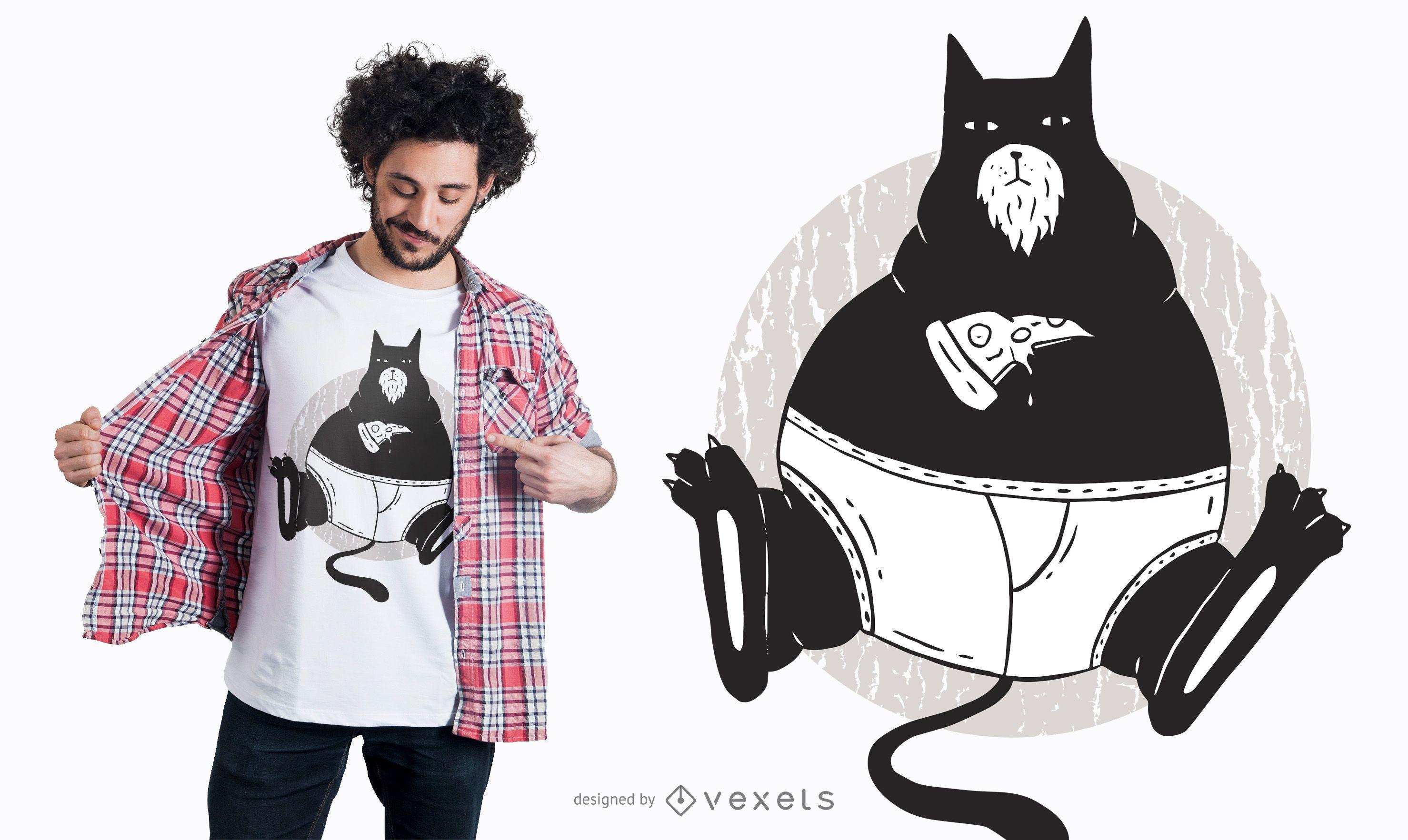 Pizza Cat T-Shirt Design