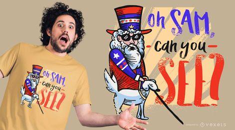 Design engraçado de camisetas do Tio Sam