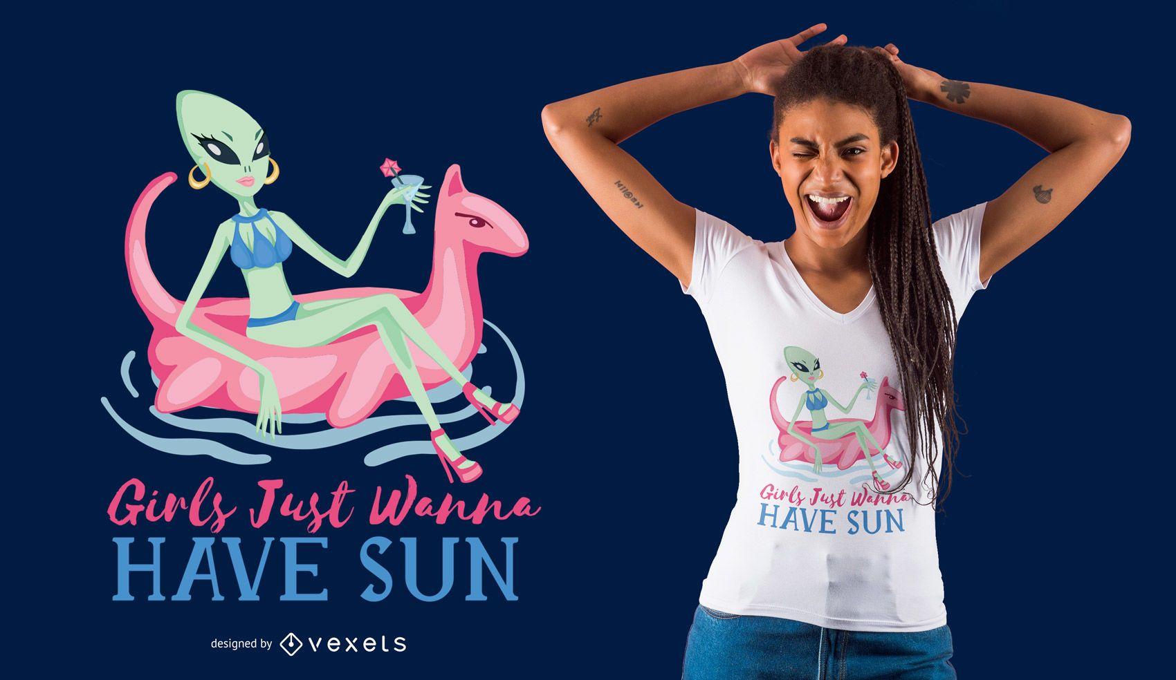 Woman Alien T-Shirt Design