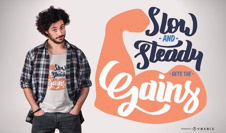 Obtenga el diseño de camiseta Gains Gym