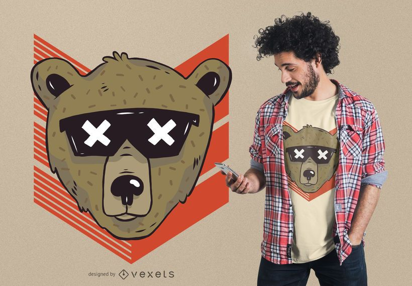 Cool bear sunglasses t-shirt design